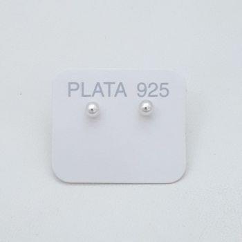 Aros Pasante Bolita Plata 4mm