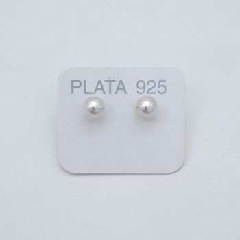 Aros Pasante Bolita Plata 6mm