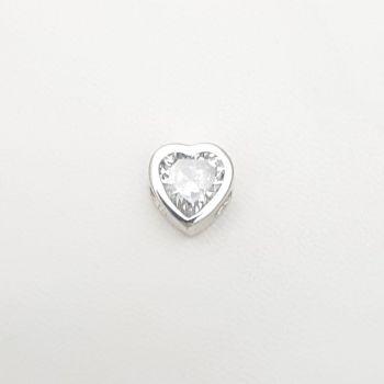 Dije Corazón Pasante de 10mm