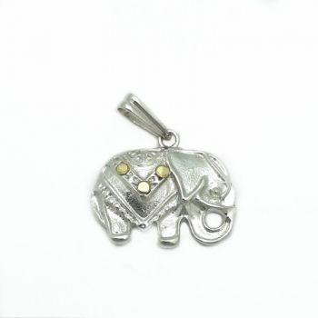 Dije Elefante Plata y Oro