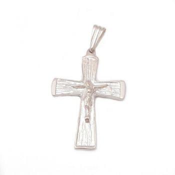 Dije Crucifijo Plata Sola